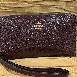 Coach Burgundy glitter wallet